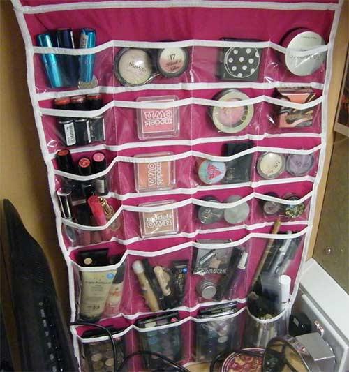 DIY Hanging Makeup Organizer