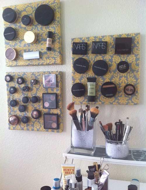 DIY Magnetic Makeup Holder
