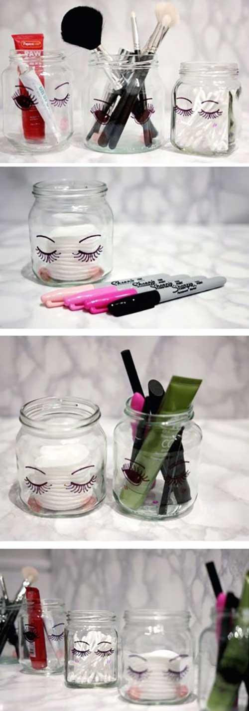 DIY Makeup Mason Jars
