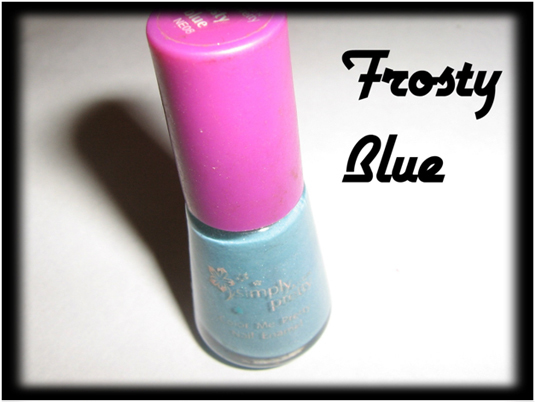 Frosty blue nail makeup