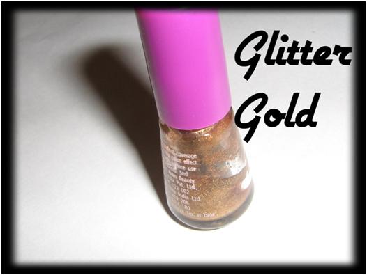Glitter gold for nail art