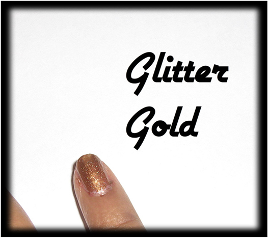 Glitter gold for nail art1