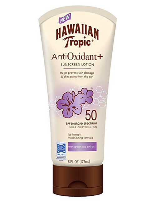 Hawaiian Tropic AntiOxidant+ Sunscreen Lotion - Best Skin Care Products