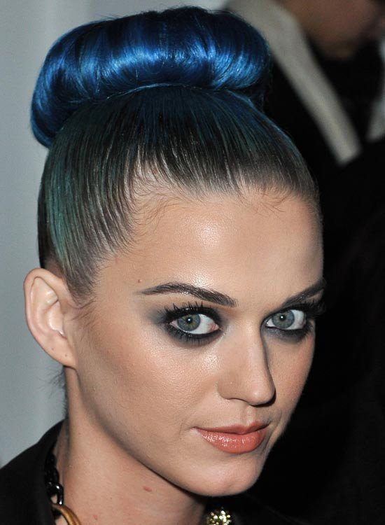 High-Donut-Electric-Blue-Bun-on-Smooth-Hair