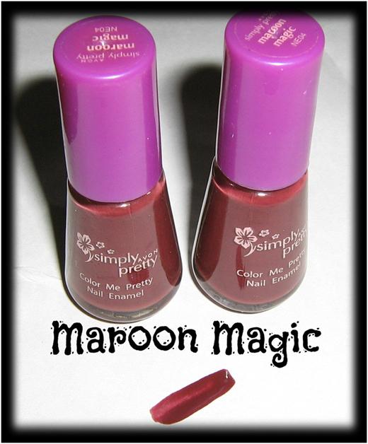 Maroon magic nail art