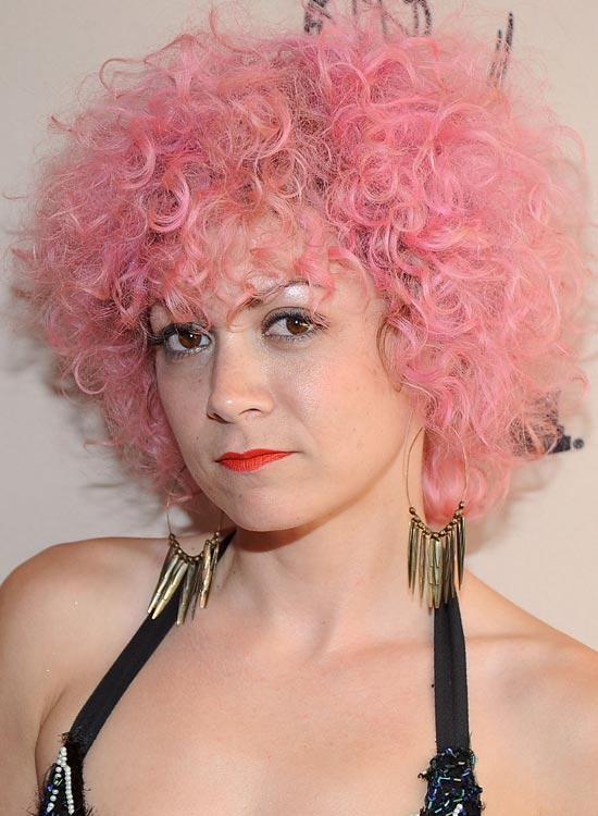 Messy-Curly-Pink-Bob-with-Extensive-Volume