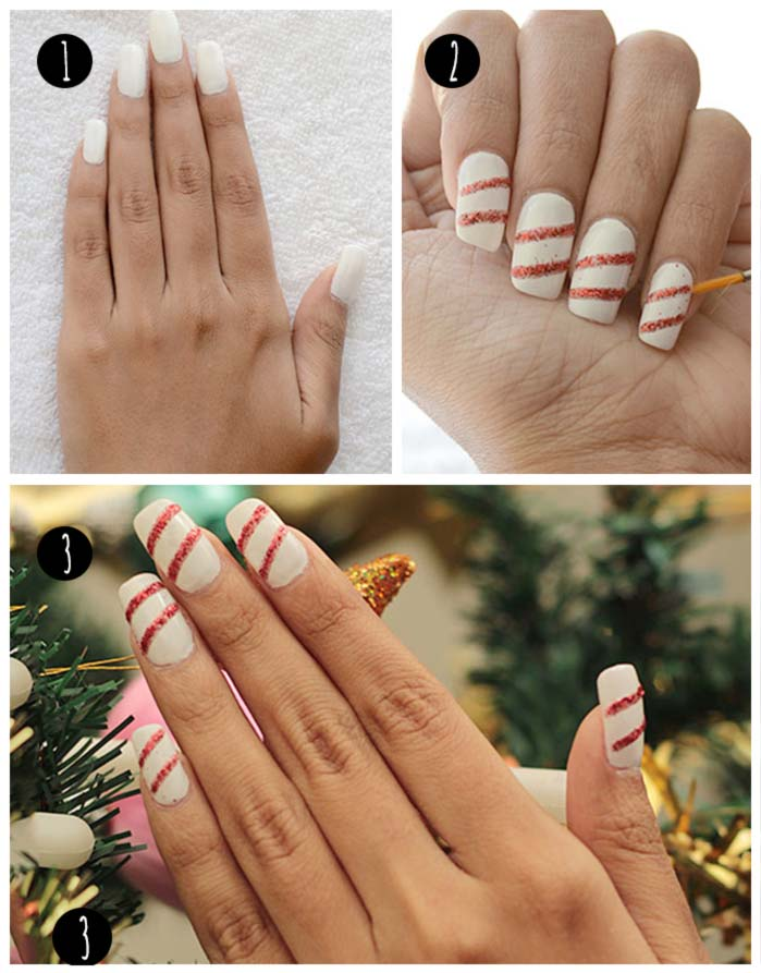 Of Glitter And Stripes Nail Art Tutorial