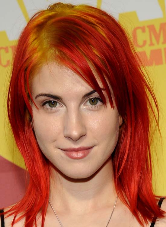 Orange-Red-Layers-with-Bangs-and-Yellow-Lowlights
