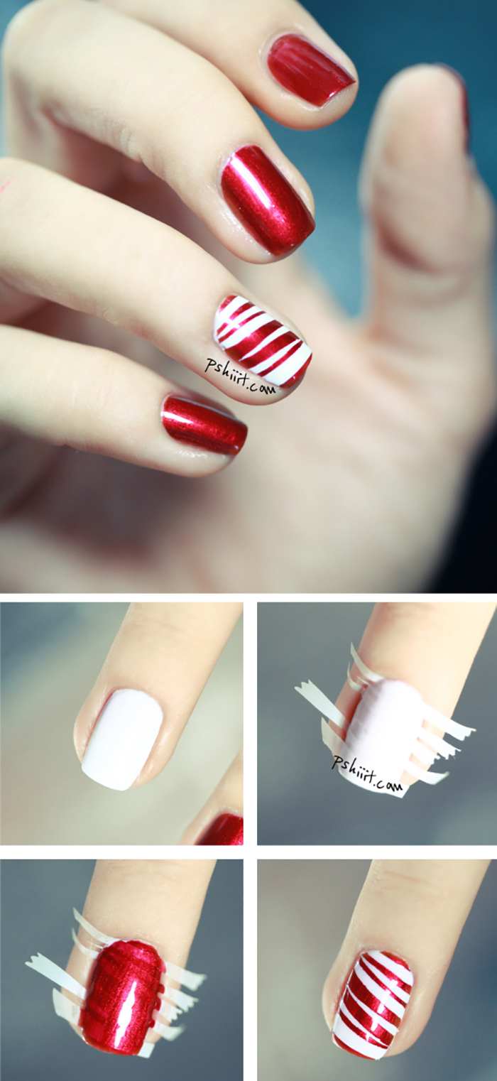 How To Apply Peppermint Party Nail Art? - Tutorial