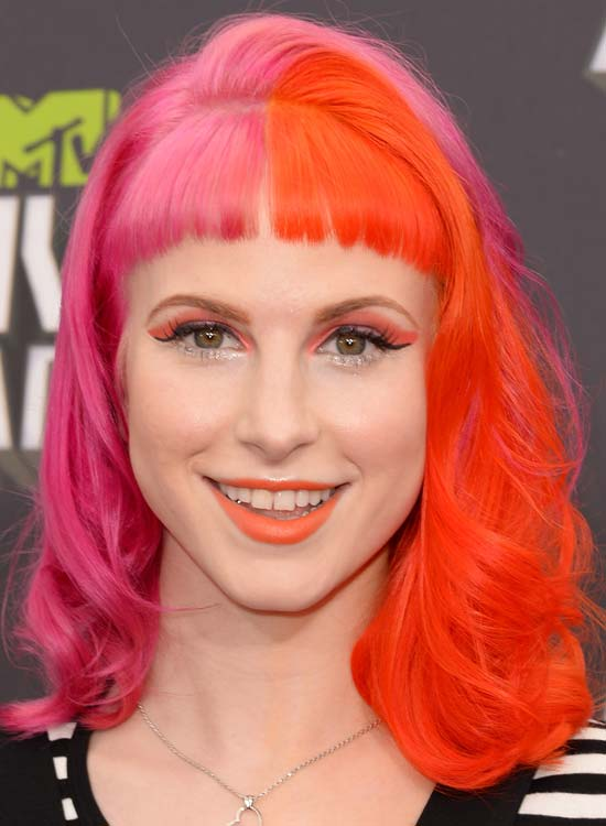 Pink-and-Orange-Waves-with-Rounded-Front-Fringes
