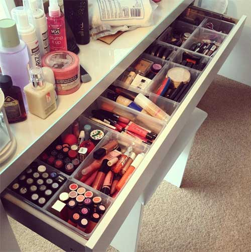Plastic Sections In Your Vanity Drawer