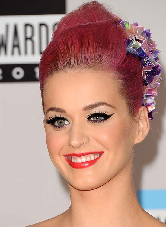 Ruby-Pink-High-Bun-with-Accessories