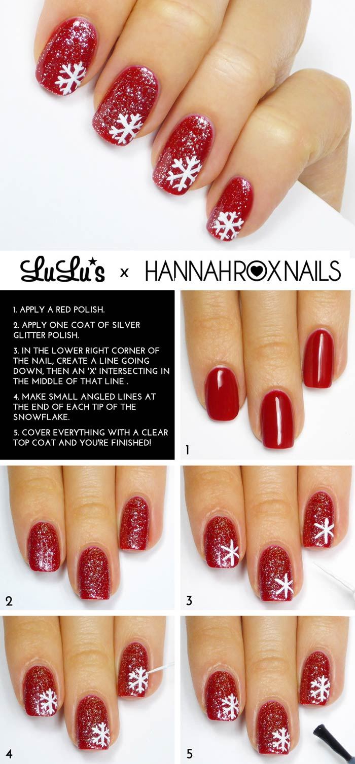 How To Apply Scarlet Snowflake Nail Design? - Tutorial