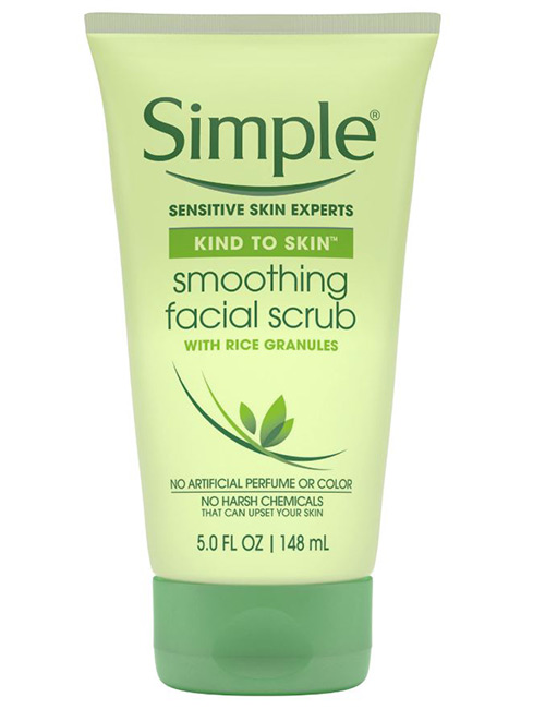 Simple Smoothing Facial Scrub - Best Skin Care Products