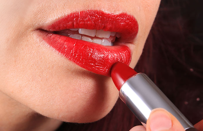 How To Apply Red Lipstick - Step 4: Apply Red Lipstick