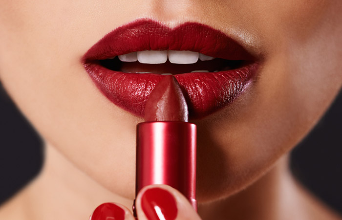 How To Apply Red Lipstick - Step 5: Apply Lip Liner And Lipstick