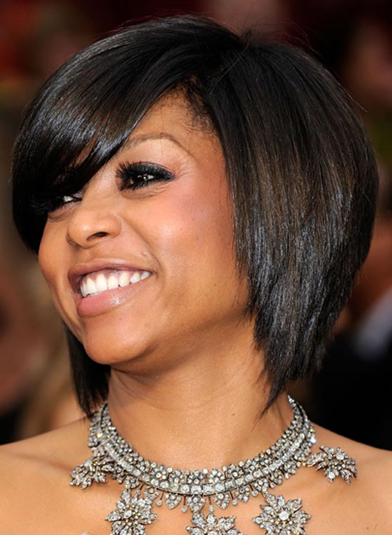 Stacked and Layered Bob with Long Deep Side Sweep