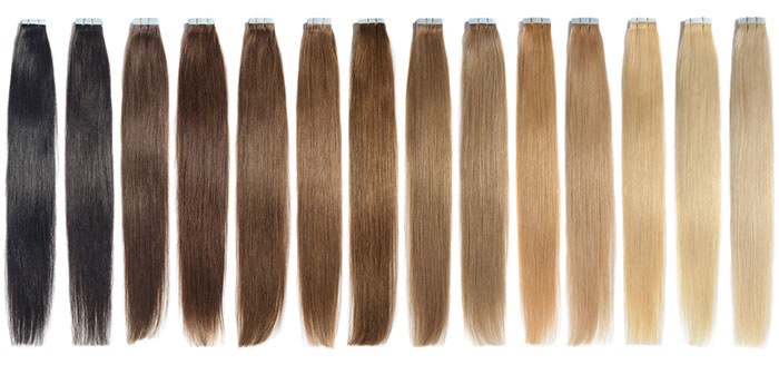 All about hair extensions with pros and cons of each type tape in hair extensions solutioingenieria Images