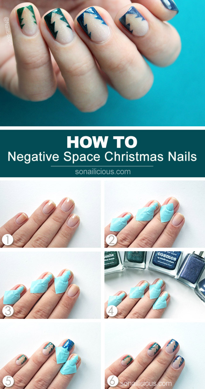 The Reverse Christmas Tree Nail Art Tutorial