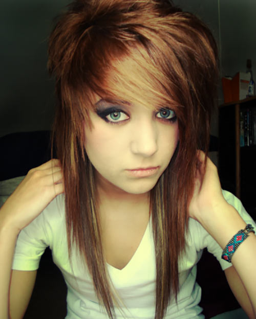 Admirable 10 Emo Hairstyles For Girls With Medium Hair Short Hairstyles Gunalazisus