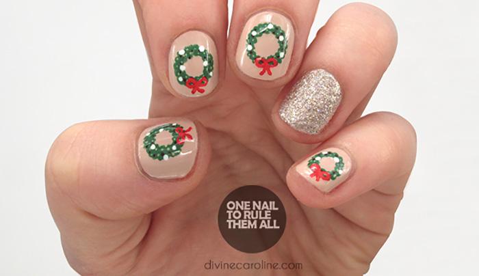 Wreath Nail Art