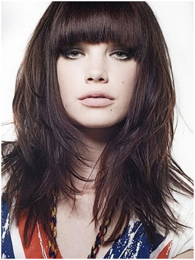 10 simple bangs hairstyles for medium length hair choppy medium front bangs hairstyle urmus Image collections