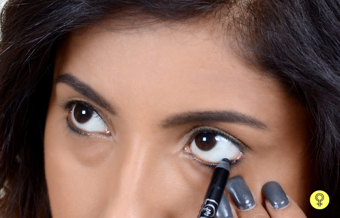kajal on the lower eyelid