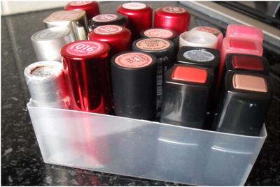 lipsticks upside