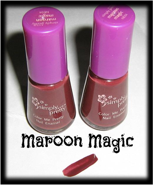maroon magic color nail art