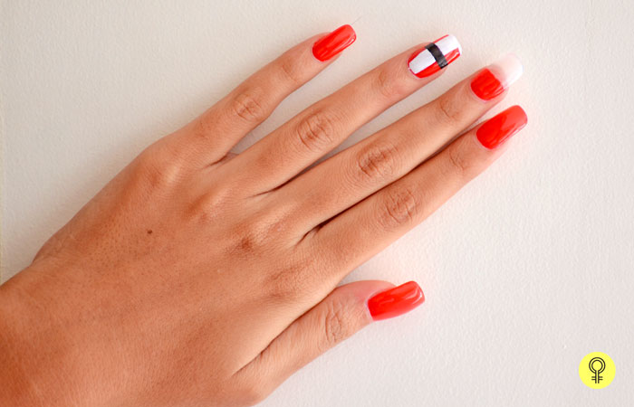 nail color and swipe a thick coa