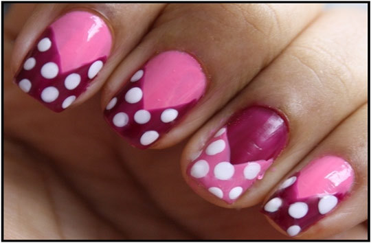pink polish for nail art