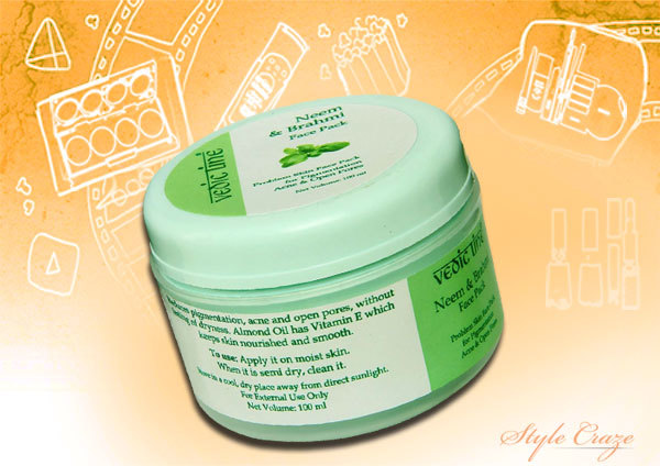 vedic line neem and brahmi face pack for pimple prone skin