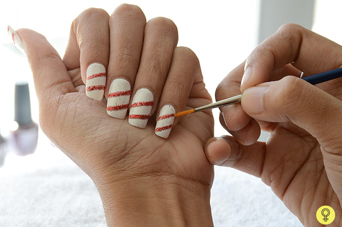 white nail color and swipe