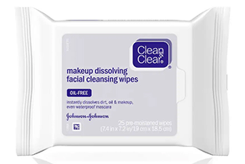Clean & Clear Facial Cleansing Wipes - Face Wipes