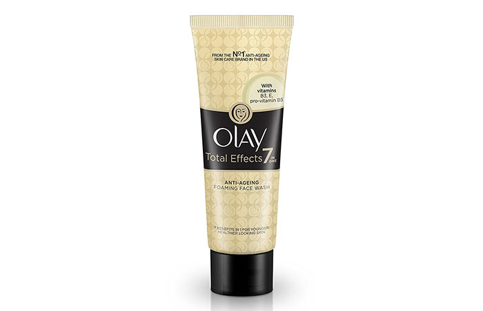 10. Olay Total Effects 7-in-1 Anti Aging Foaming Face Wash