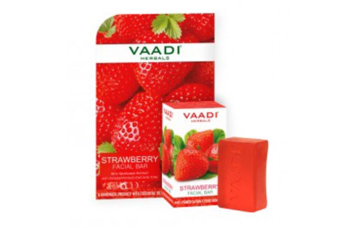 10. Vaadi Herbals Strawberry Facial Bar Soap