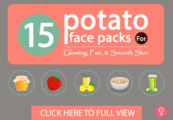Best Potato Face Packs - 15 Best Potato Face Packs For Glowing, Fair, And Smooth Skin