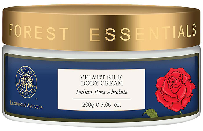 18. Forest Essentials Indian Rose Absolute Velvet Silk Body Cream