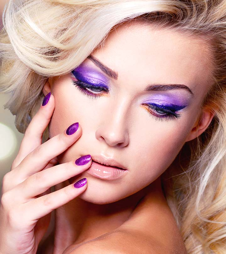 2 Simple Purple Eye Makeup Tutorials with Pictures