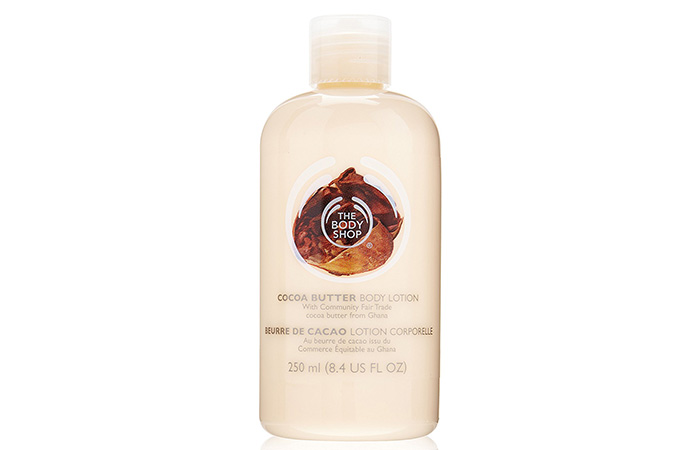 2. The Body Shop Cocoa Butter Hand & Body Lotion - Best Body Lotions