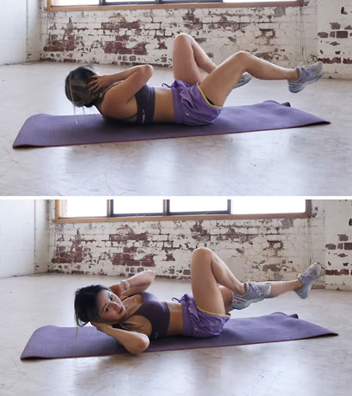 Bicycle Crunches For Belly Fat Reduction