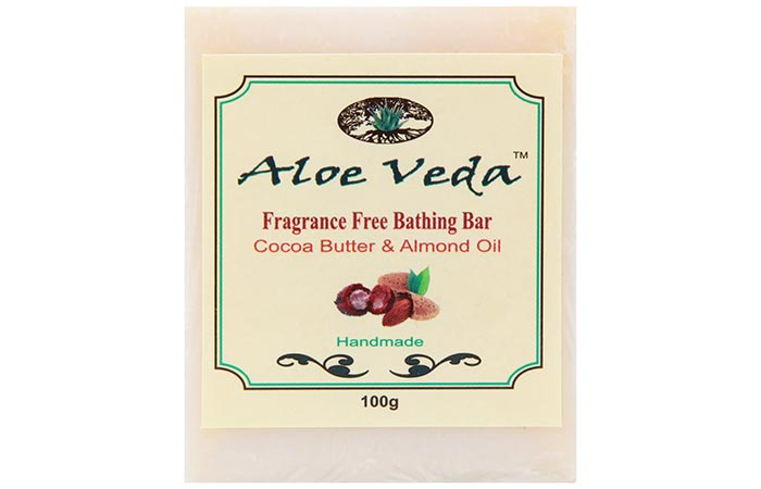 4. Aloe Veda Fragrance Free Bathing Bar Cocoa Butter And Almond Oil