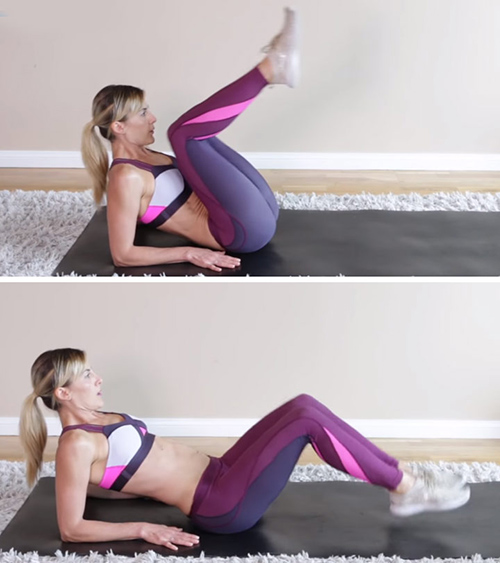 Half Seated Reverse Crunch