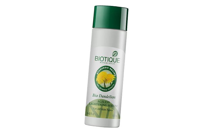 Skin Lightening Creams- Biotique Bio Dandelion Ageless Lightening Serum