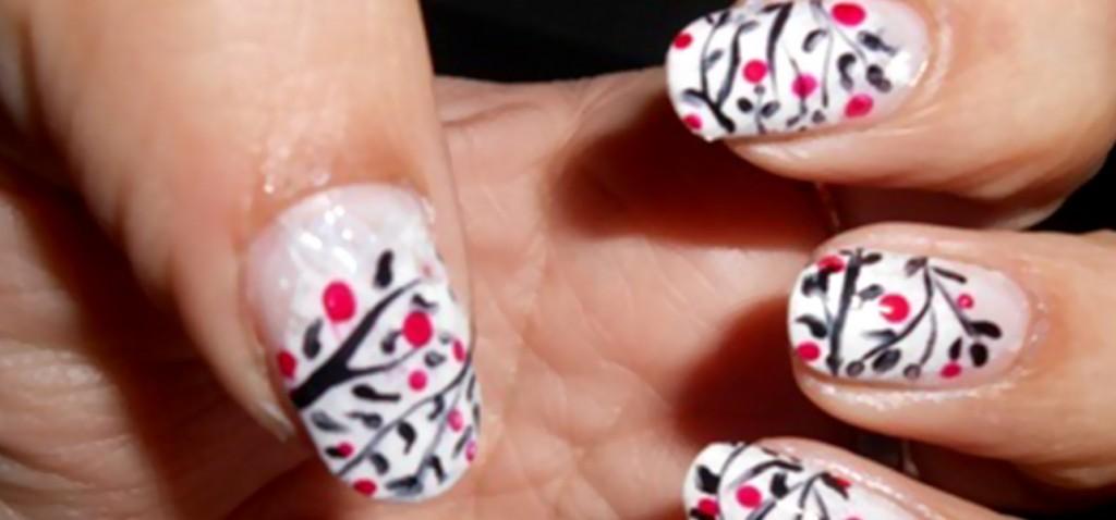 white nail polish designs