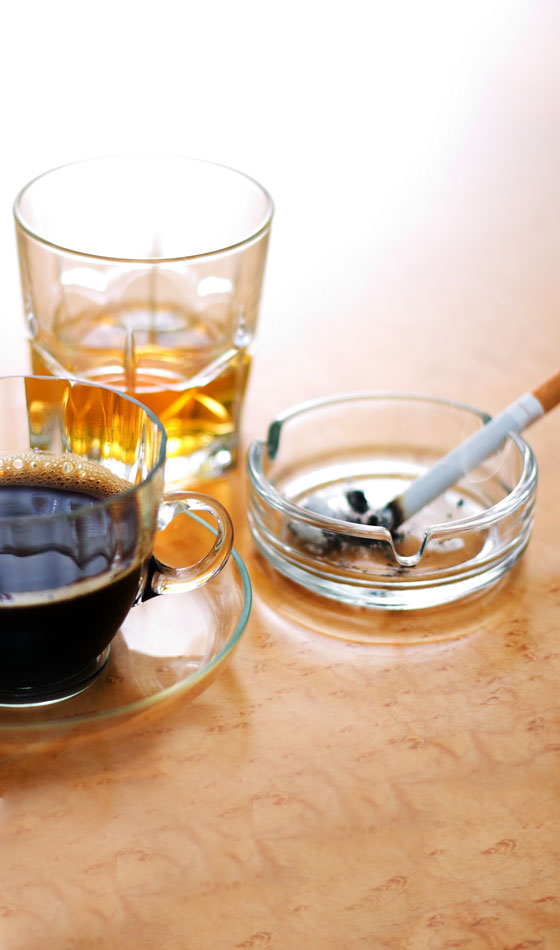 Cut Down The Intake of Alcohol and Caffeine