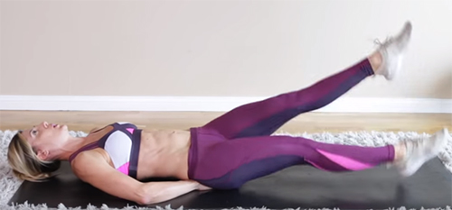 Flutter Kicks To Burn Belly Fat