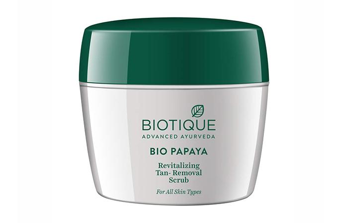 8.-Biotique-Bio-Papaya-Revitalizing-Tan-Removal-Scrub - Skin Exfoliants