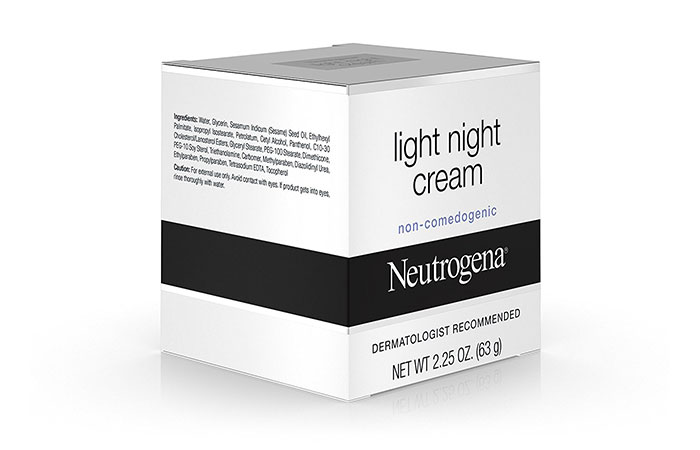 8. Neutrogena Light Night Cream