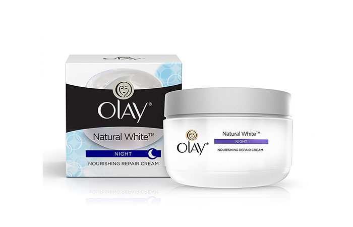 9. Olay Natural White All in One Fairness Night Skin Cream